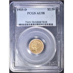 1925-D $2.5 GOLD INDIAN  PCGS AU-58
