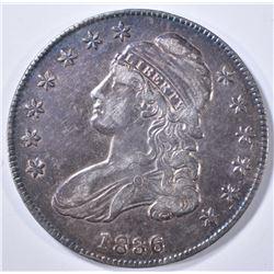 1836 BUST HALF DOLLAR  AU