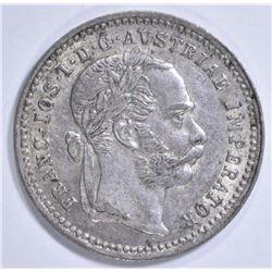 1872 SILVER 10 KREUZER AUSTRO-HUNGARIAN EMPIRE