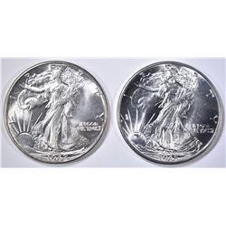1942 & 45 WALKING LIBERTY HALF DOLLARS  GEM BU