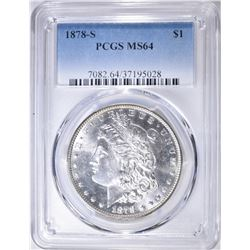1878-S MORGAN DOLLAR   PCGS MS-64
