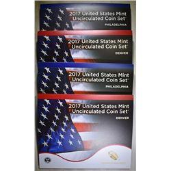 2-2017 U.S. MINT UNC SETS ORIG PACKAGING