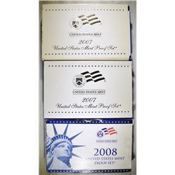 2-2007 & 1-2008 U.S PROOF SET ORIG PACKAGING
