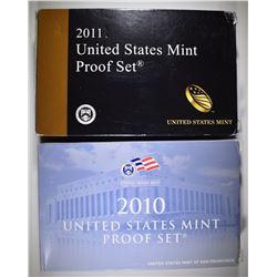 2010 & 2011 U.S. PROOF SETS IN ORIG PACKAGING
