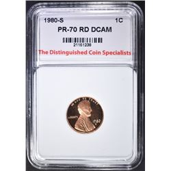 1980-S LINCOLN CENT TDCS PERFECT GEM PR RED DCAM