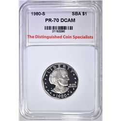 1980-S S.B.A. DOLLAR, TDCS PERFECT GEM PR DCAM
