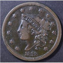 1838 LARGE CENT, VF