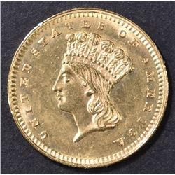 1862 GOLD DOLLAR CH BU