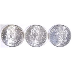 (3) 1882-S MORGAN DOLLARS FLASHY!