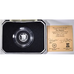 1984 ISLE OF MAN 1/10 oz PLATINUM WITH BOX & CERT