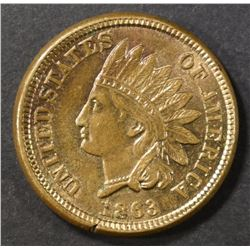 1863 INDIAN CENT   CH BU