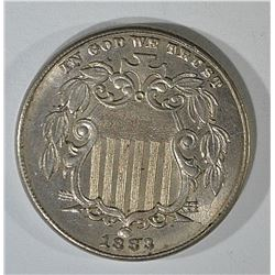 1883 SHIELD NICKEL CH BU