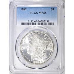 1882 MORGAN DOLLAR, PCGS MS-65