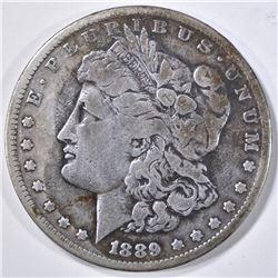 1889-CC MORGAN DOLLAR VG/F