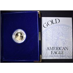 1994 1/10th OUNCE PROOF GOLD EAGLE IN ORIG BOX/COA