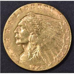 1925-D $2.5 GOLD INDIAN AU/BU