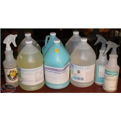 ASSORTED CLEANING CHEMICALS INCLUDING: