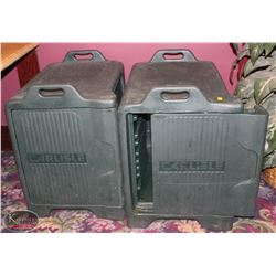 2 LARGE CARLISLE INSULATED FOOD PAN CARRIER