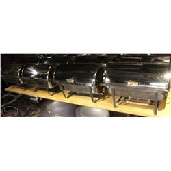8 STAINLESS STEEL ROLL TOP CHAFING DISHES