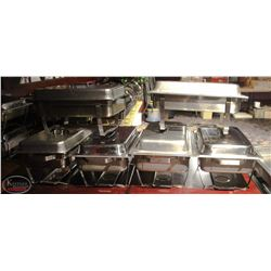 6 LARGE STAINLESS STEEL CHAFING DISHES