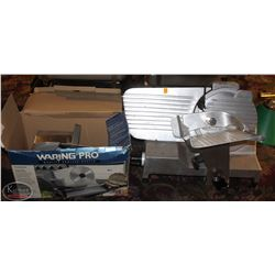 CHESHER MEAT SLICER & BOXES OF MISC. PARTS