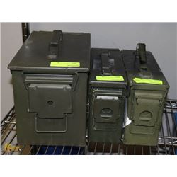 LOT OF THREE AMMO CONTAINERS