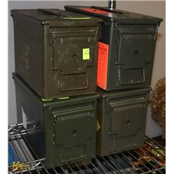 LOT OF FOUR AMMO CONTAINERS