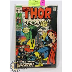VINTAGE MARVEL THOR 15 CENT #189 COMIC BOOK.