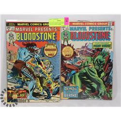 VINTAGE MARVEL BLOODSTONE #1 AND #2 COMIC BOOKS.
