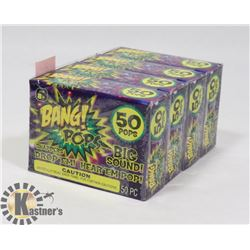 4 NEW PACKS OF BANG! POPS / 50 PER PACK