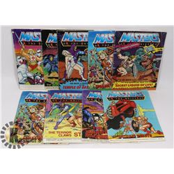 LOT OF 9 VINTAGE MASTERS OF THE UNIVERSE HE MAN