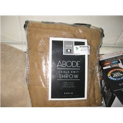 ABODE CABLE KNIT THROW BLANKET