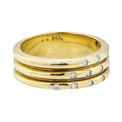 0.23 ctw Diamond Ring - 14KT Yellow Gold