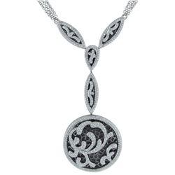 18k White Gold 2.28CTW Diamond Necklace, (VS2/G)