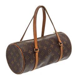 Louis Vuitton Monogram Canvas Leather Papillon 26 cm Shoulder Bag