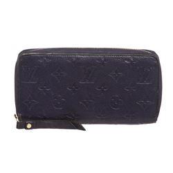 Louis Vuitton Blue Empreinte Leather Monogram Zippy Wallet
