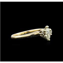 0.46 ctw Diamond Ring - 14KT Yellow Gold