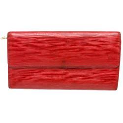 Louis Vuitton Red Epi Leather Sarah Long Wallet