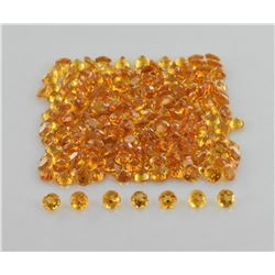 NATURAL GOLDEN CITRINE 4 MM ROUND CUT FACETED LOOSE AAA GEMSTONE 100 PIECES LOT