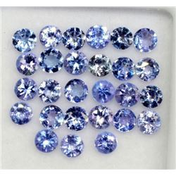 Natural Tanzanite 3 MM Round Cut Lustrous Violet Blue Loose Gemstone 100 Pieces Lot