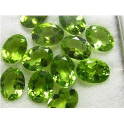 Natural Peridot 8x6 MM Oval Cut Loose Gemstone 10 Pieces Lot
