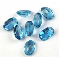 Natural Swiss Blue Topaz 6x4mm Oval Cut Loose Gemstone 25 Pieces Lot
