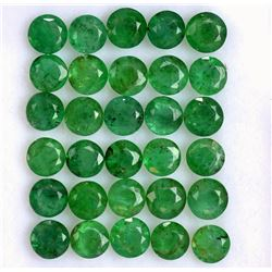 Natural Emerald 4 MM Round Cut Green Loose Gemstone 100 Pieces Lot