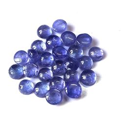 100% Natural Blue Tanzanite 4mm Round Cabochon Loose Gemstone 100 Pieces Lot