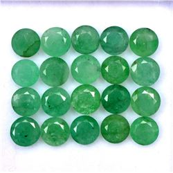 Natural Emerald 5 MM Round Cut Green Loose Gemstone 100 Pieces Lot