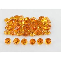 NATURAL GOLDEN CITRINE 5 MM ROUND CUT FACETED LOOSE GEMSTONE 100 PIECES LOT