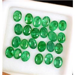 Natural Emerald 4x3 MM Oval Cut Green Loose Untreated Gemstone 100 Pieces Lot