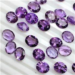 Amethyst Oval Cut 4x5mm Loose Gemstone 100 Pieces Lot