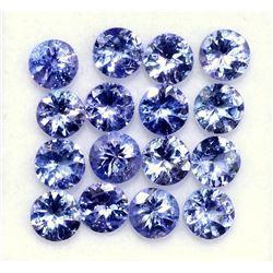 Natural Tanzanite 4 MM Round Cut Lustrous Voilet Blue Loose Gemstone 100 Pieces Lot