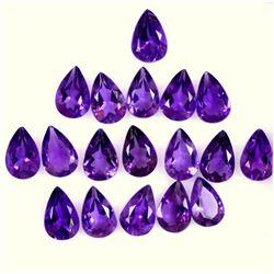 Amethyst Pear Cut 6x4mm Loose Gemstone 100 Pieces Lot